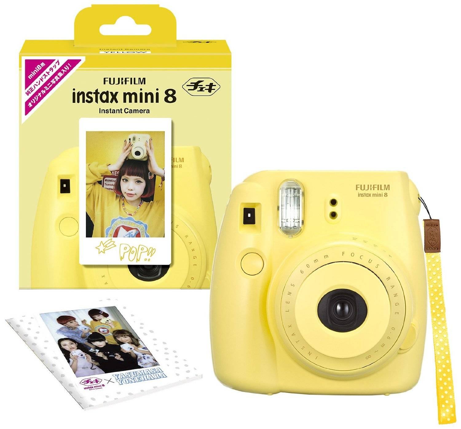 Fujifilm Instax Mini 8 INS MINI 8 YELLOW N Instant Camera