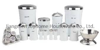 durable stainless steel storage kitchen canister set