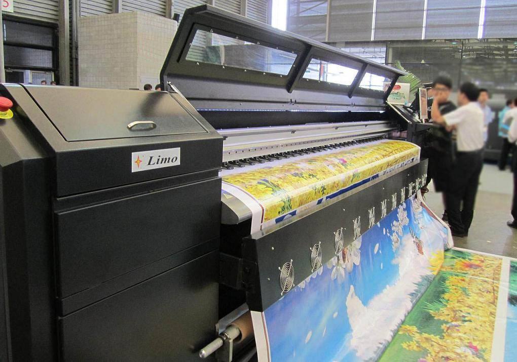 solvent printer with Spectra Polaris print head