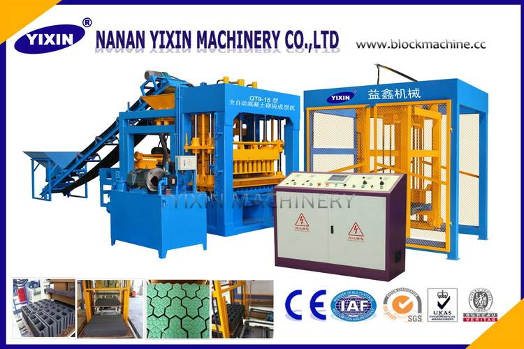 Fully Automatic Cement Block Making Machine QT9-15 for making hollow blocks