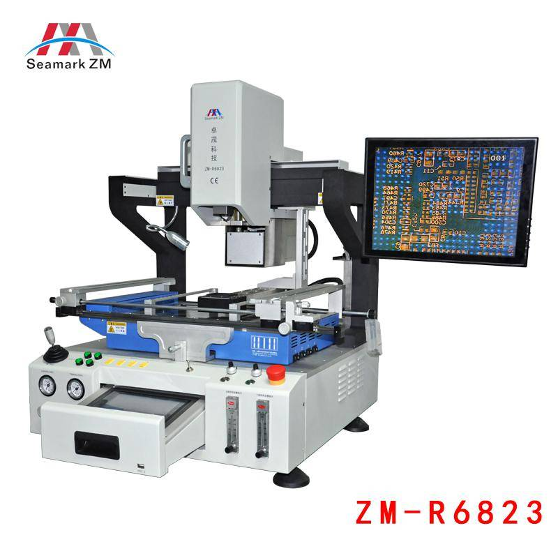 Full automatic mobile soldering rework station ZM-R6823 with laser positioning  system