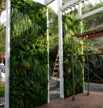 Plastic artificial plant green wall artificial green wall