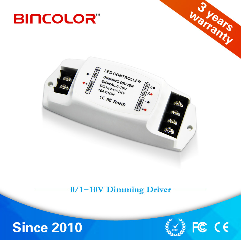 BC-330-10A 5A 3CH 0-10V led dimming driver Constant Voltage PWM 0-10v led dimmer