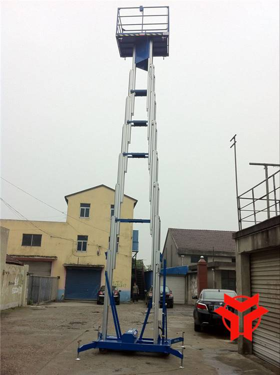 HENGYUAN SJLS0.2-14.0 Triple Masts Aluminum Alloy Elevating Platform