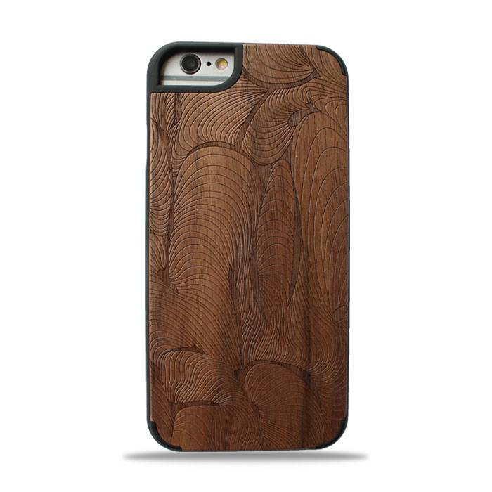 New design premium wood phone case solid phone protective cord back high quaility Iphone6/6P Magic C