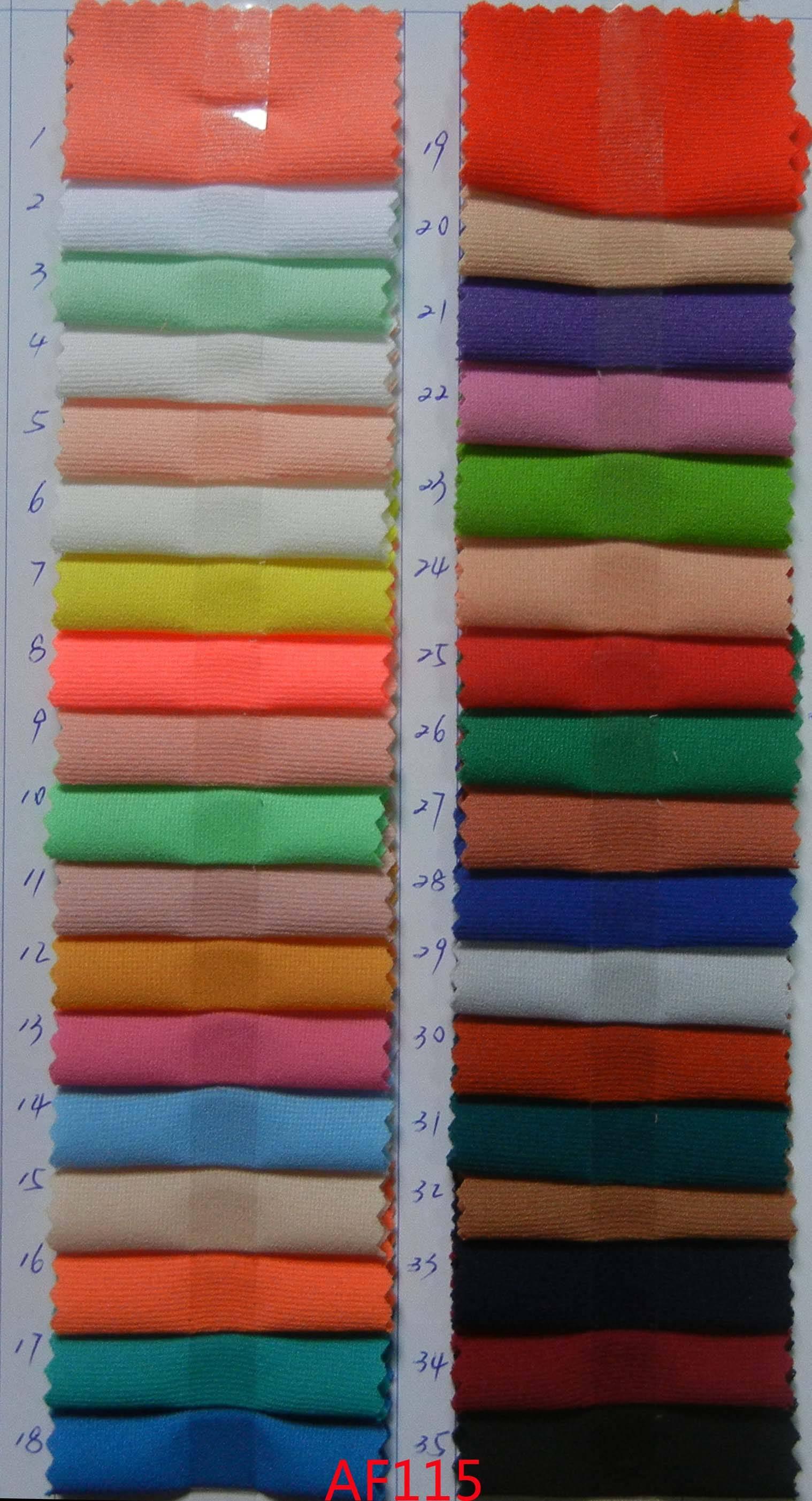AF113 100% Polyester Plain Chiffon