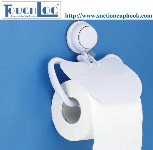 Bathroom paper hand towel holder magnetic with unique suction cup
