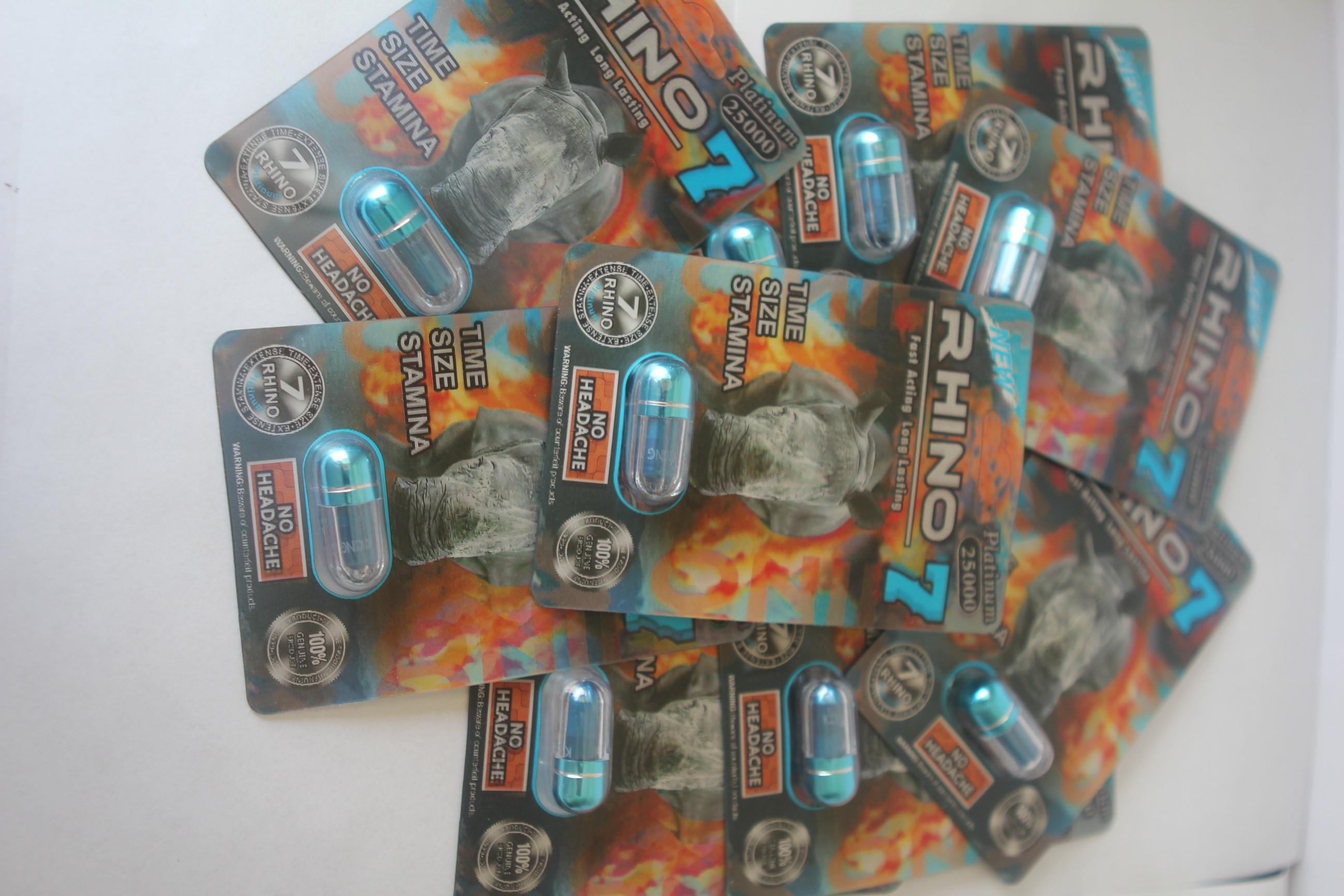 Rhino 7 Platinum 25000 Male Enhancement 3D Cards 1