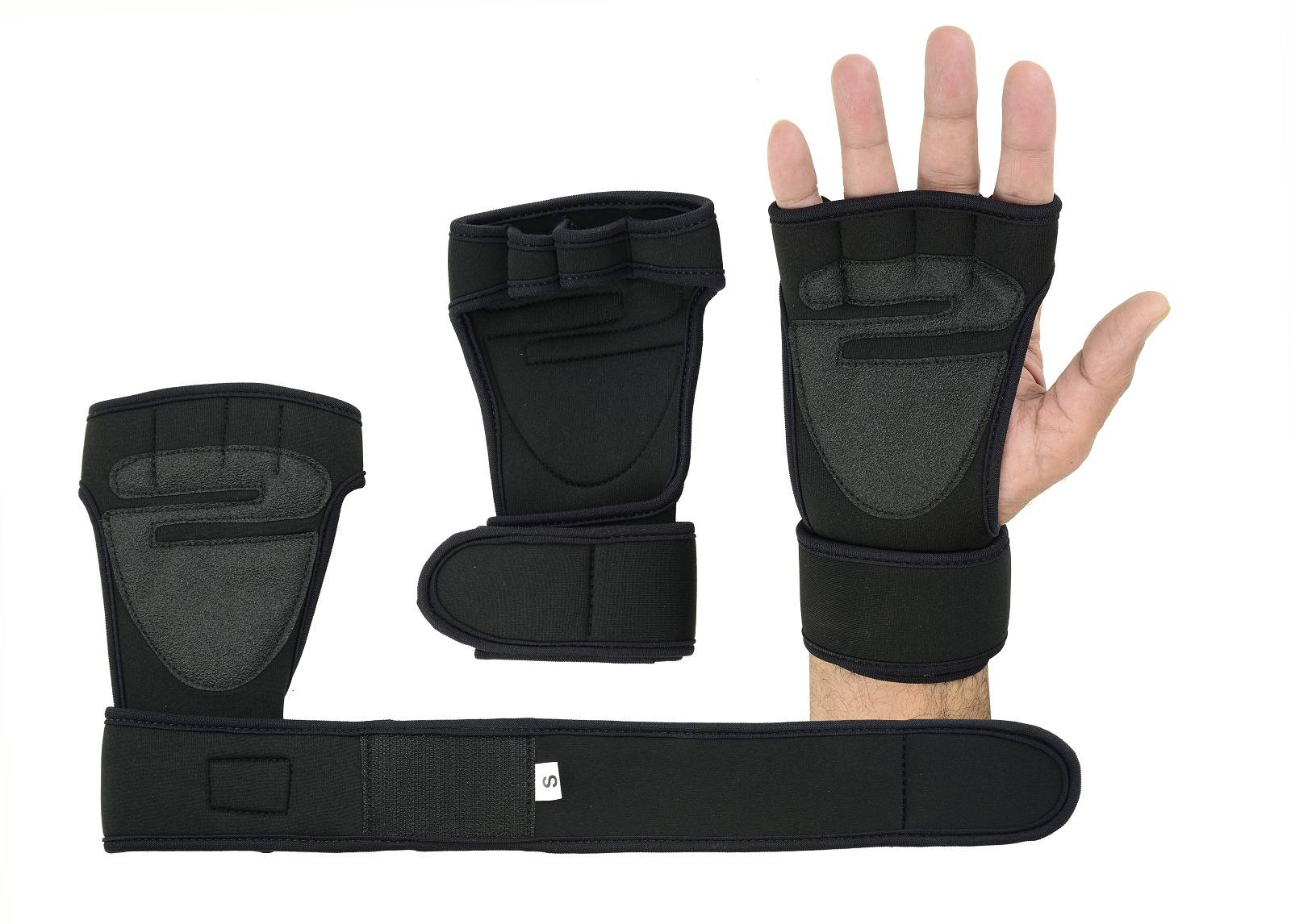 Lange polsbanden Padded Palm Gym Training Fitness handschoen