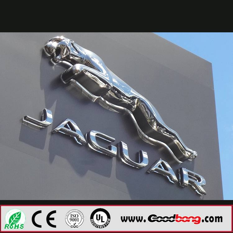 Export Sound Luxury Outdoor Wholesale 2015 Metallic Car Logo Signages