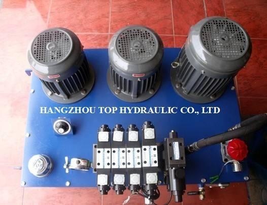 hydraulic power pack hydraulic power unit pump motor pressure gauge