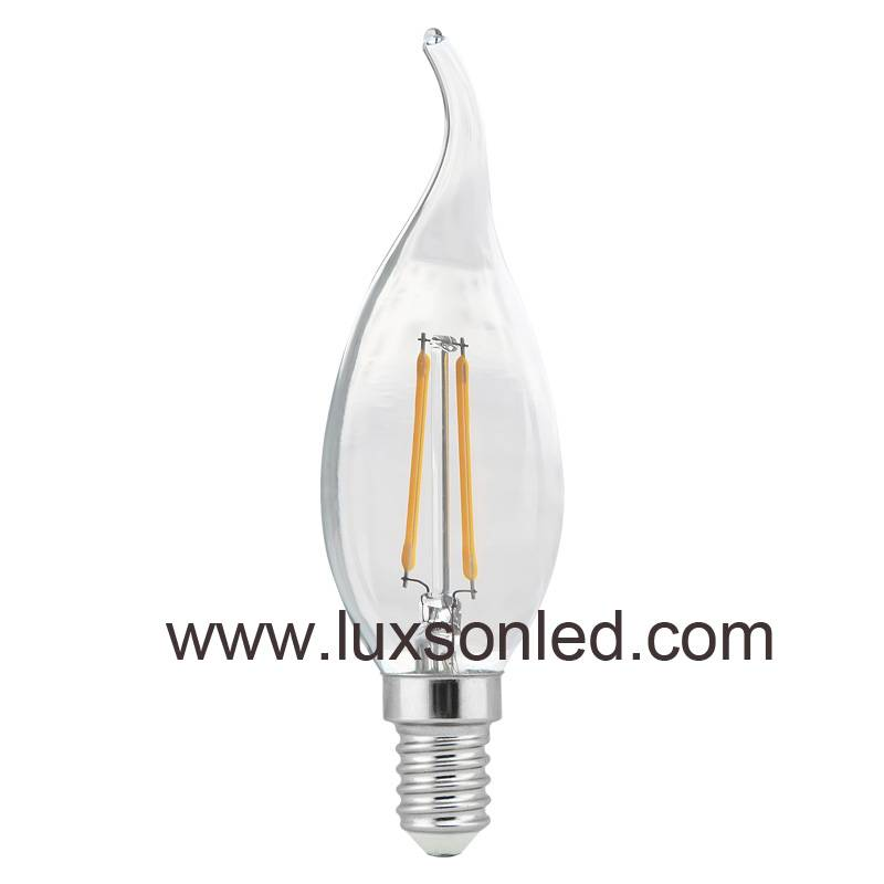 LED Bulb C35 with tip 1W 2W 4W LED Lamp LED Light Filament Bulb