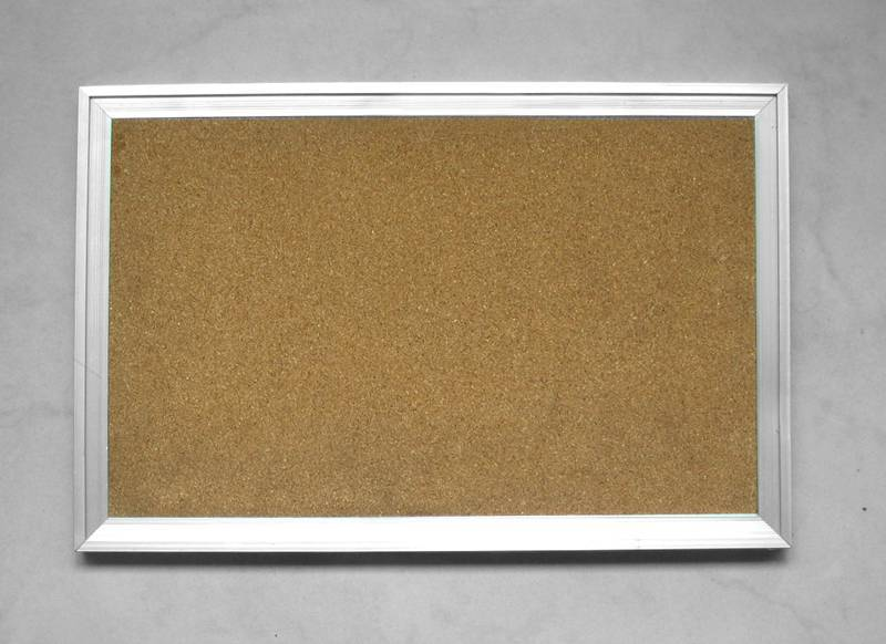 Cork Memo Board with Aluminum Frame