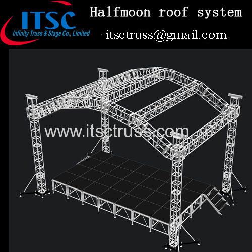 Halfmoon roof truss system in Trinida and Tobago