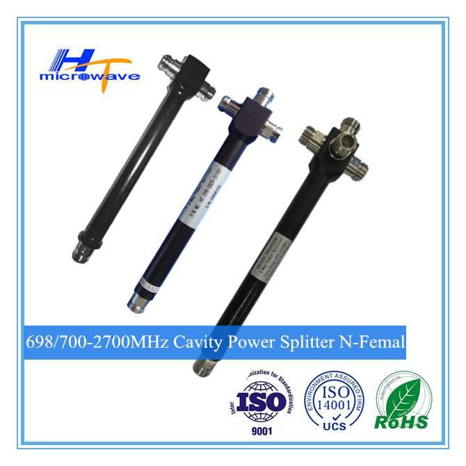698/700-2700MHz 2/3/4 way N type Female indoor and outdoor waterproof cavity Power Splitter / Divide