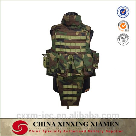 China Suppliers Full Body Armor Suit Military Tactical Bullet Proof balistic Vest