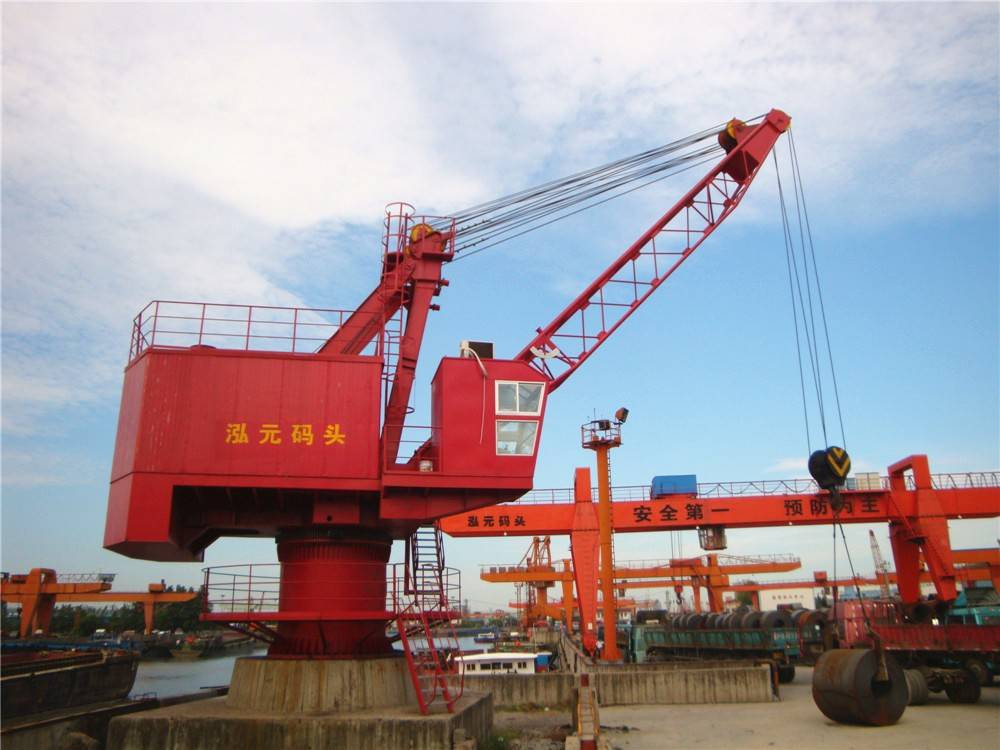 360degree rotation single jib portal fixed crane 20 ton