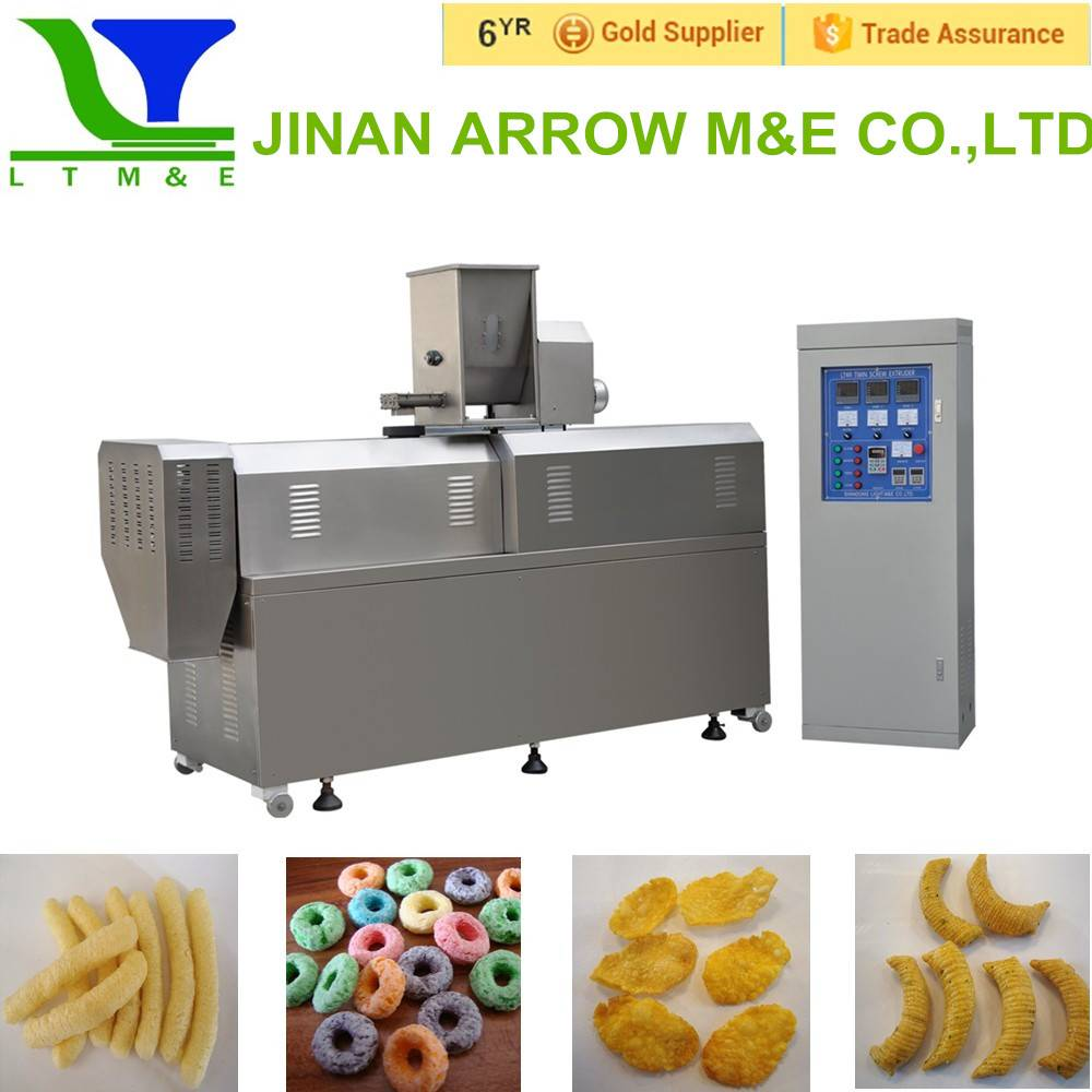 Corn filling inflating snacks machine