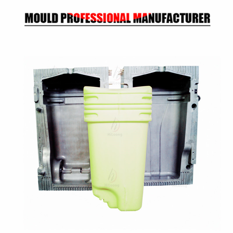 plastic blow mold trash bin mold blowing