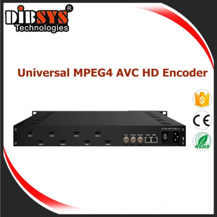 8 channels HDMI MPEG4 AVC  Full HD Encoder