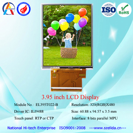 Top quality 3.97 inch/4 inch tft lcd module with mipi interface