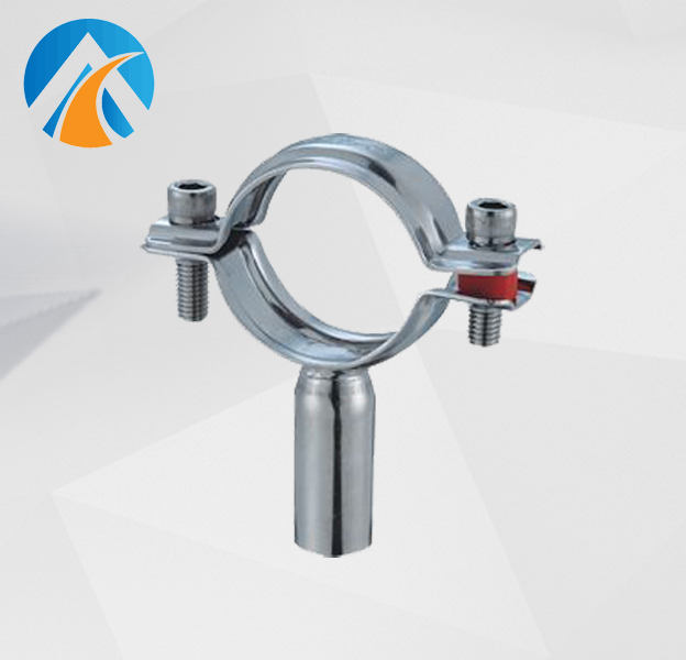 Sanitary stainless steel pipe hanger