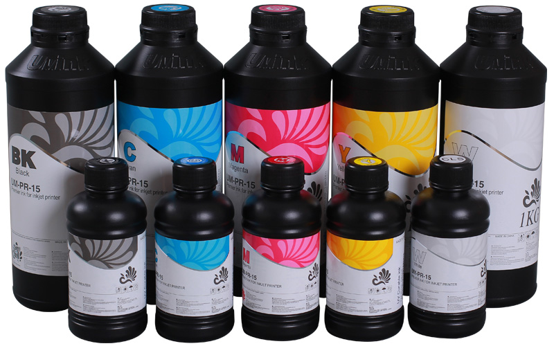 """""""UVINK"""" UV Curable ink for Konica 510 1024 25/42/14PL soft media as PVC banner"""
