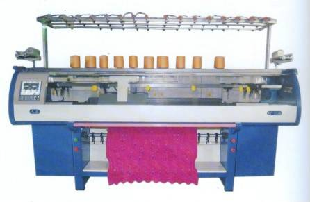 Double systems high speed automatic computerized flat knitting machine