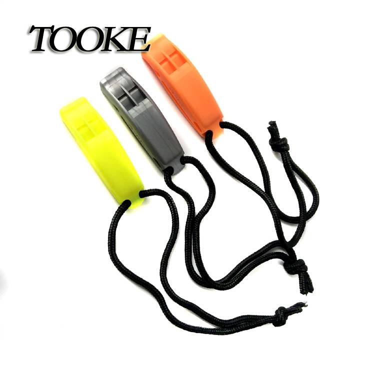 TOOKE Survival Safety Whistle Emergency Scuba Diving Water Sports Trekking With Black Line