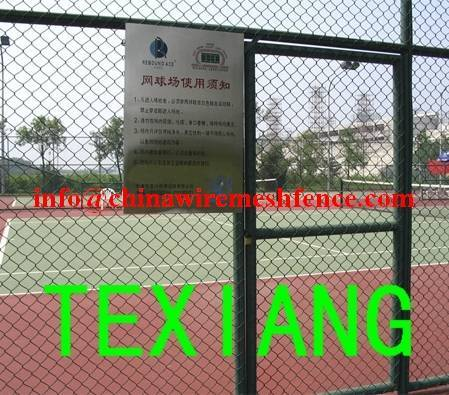 galvanized PVC sport field Chain link fence