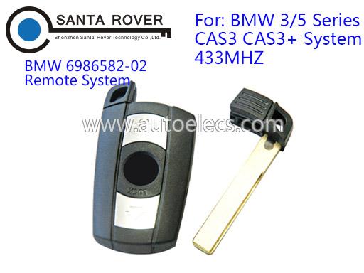 3 Button Car Key Remote Control For BMW 3 Series 5 Series X1 X6 Z4 CAS3 CAS3+ Keys Fob 433Mhz