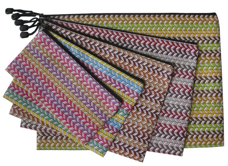 Mix colour Stripes leather bag