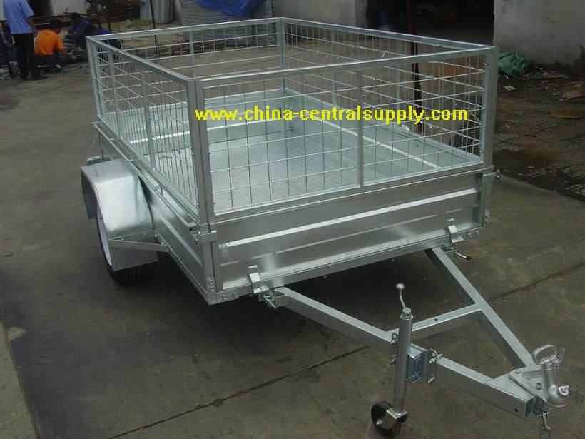 6x4 Box trailer with mesh cage