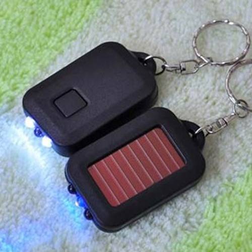 gifts box package led solar keyring for promotion product
