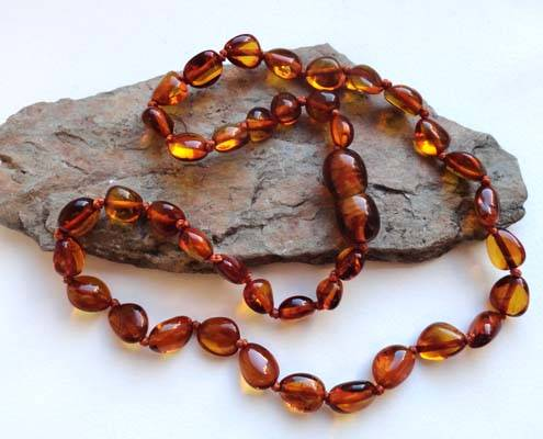 Kid amber necklace