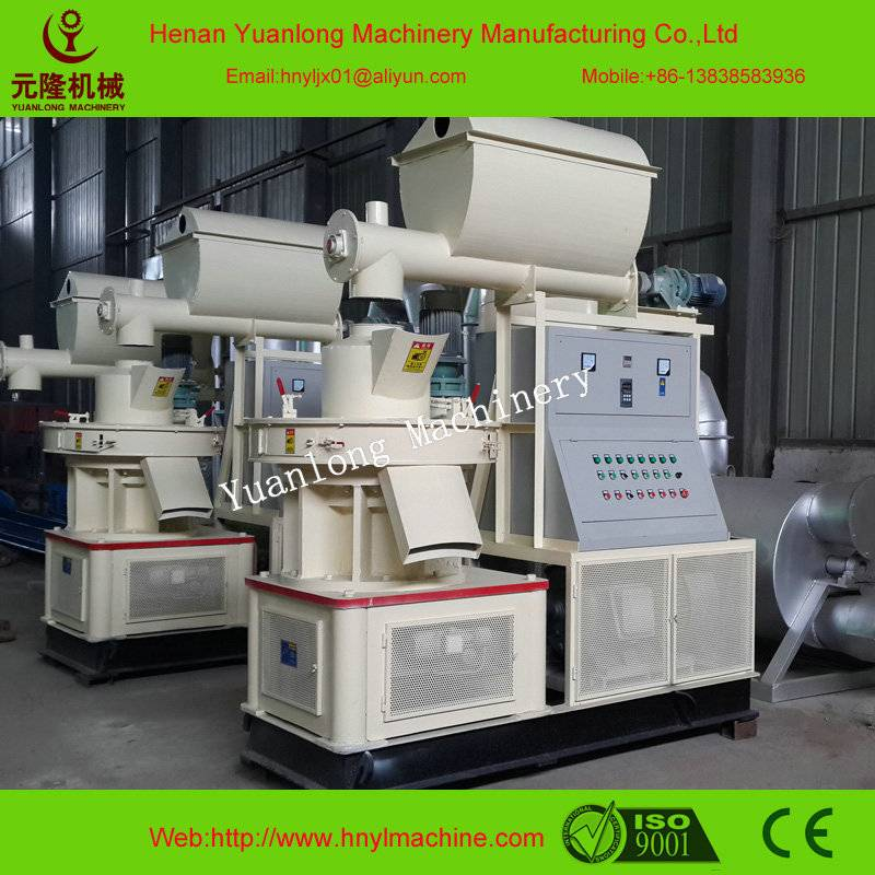 Automatic lubrication wood pellet making machine