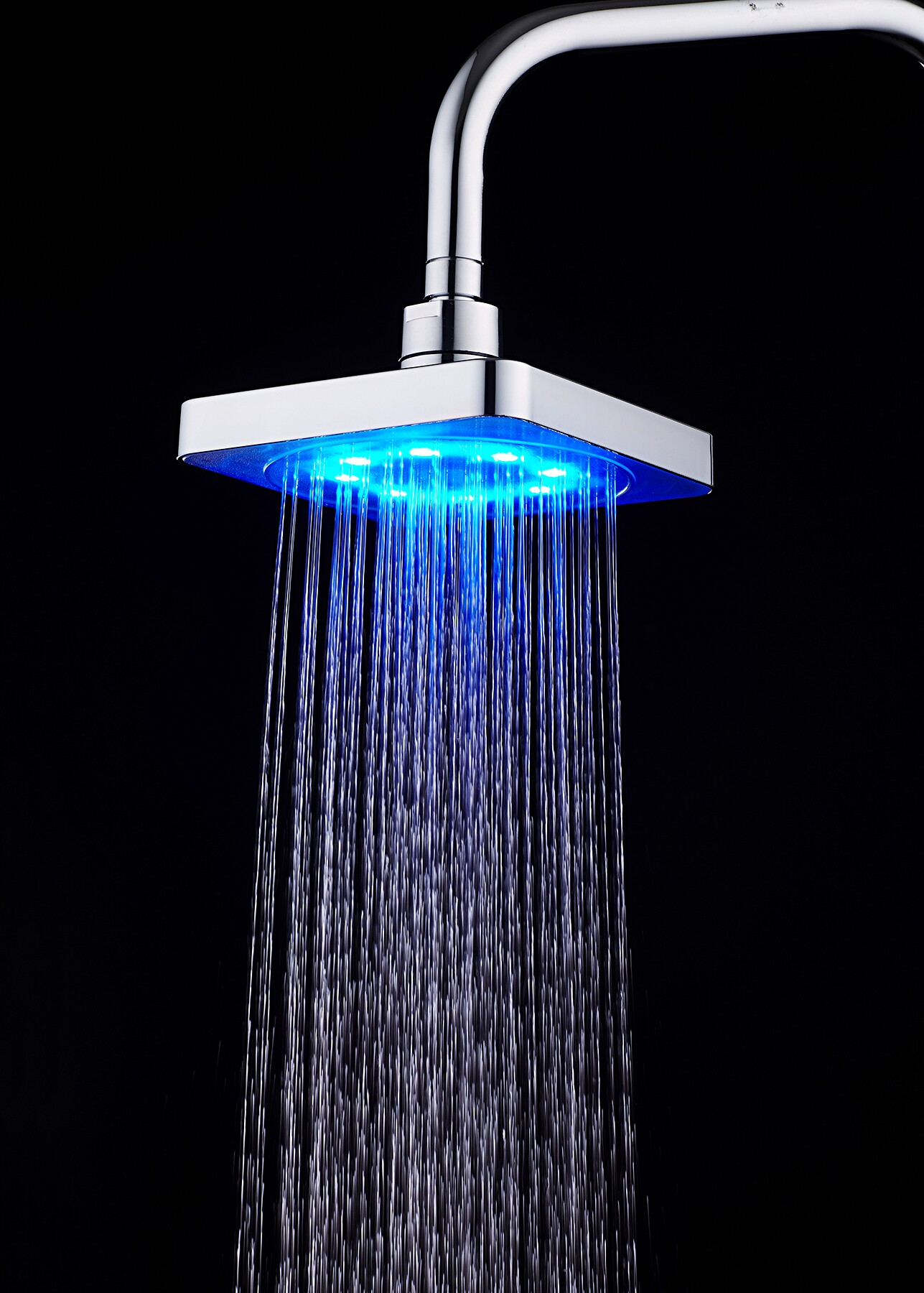 RC-S0601A High Pressure Rain Shower Head LED Color Change With Water Temperature