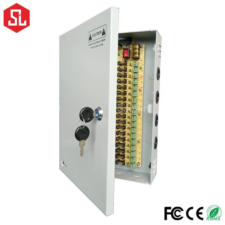 120W 18 channels cctv camera power supply