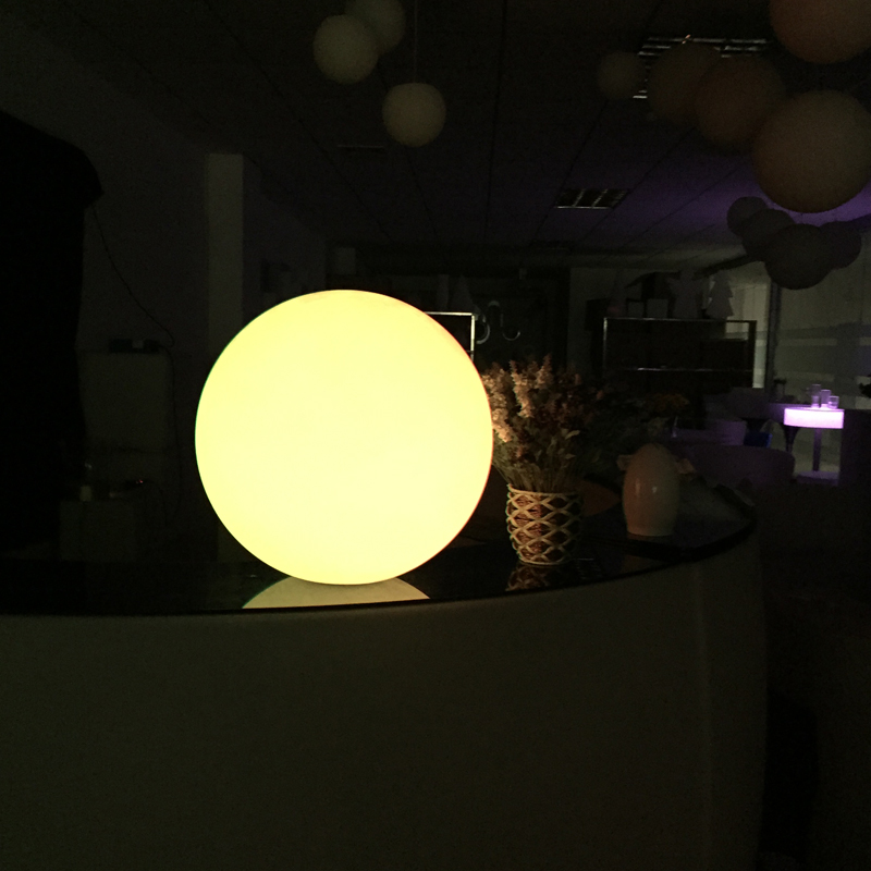 40cm Outdoor Rechargeable Battery Round Led Ball Light With Color Change