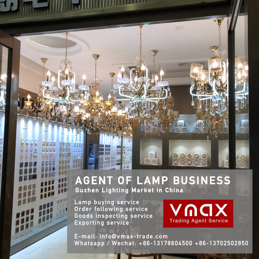 Zhongshan Guzhen norbic pendant lamp buying agent in China Guzhen lighting market