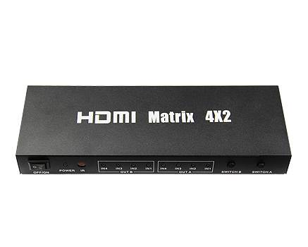 Promotion! V1.4 HDMI Matrix 4*2 with IR Control, RS232