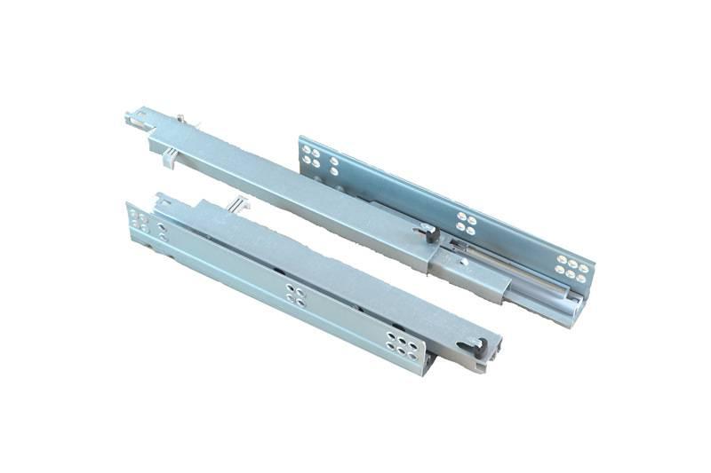 full extension concealed soft close drawer slide with adjusting pin