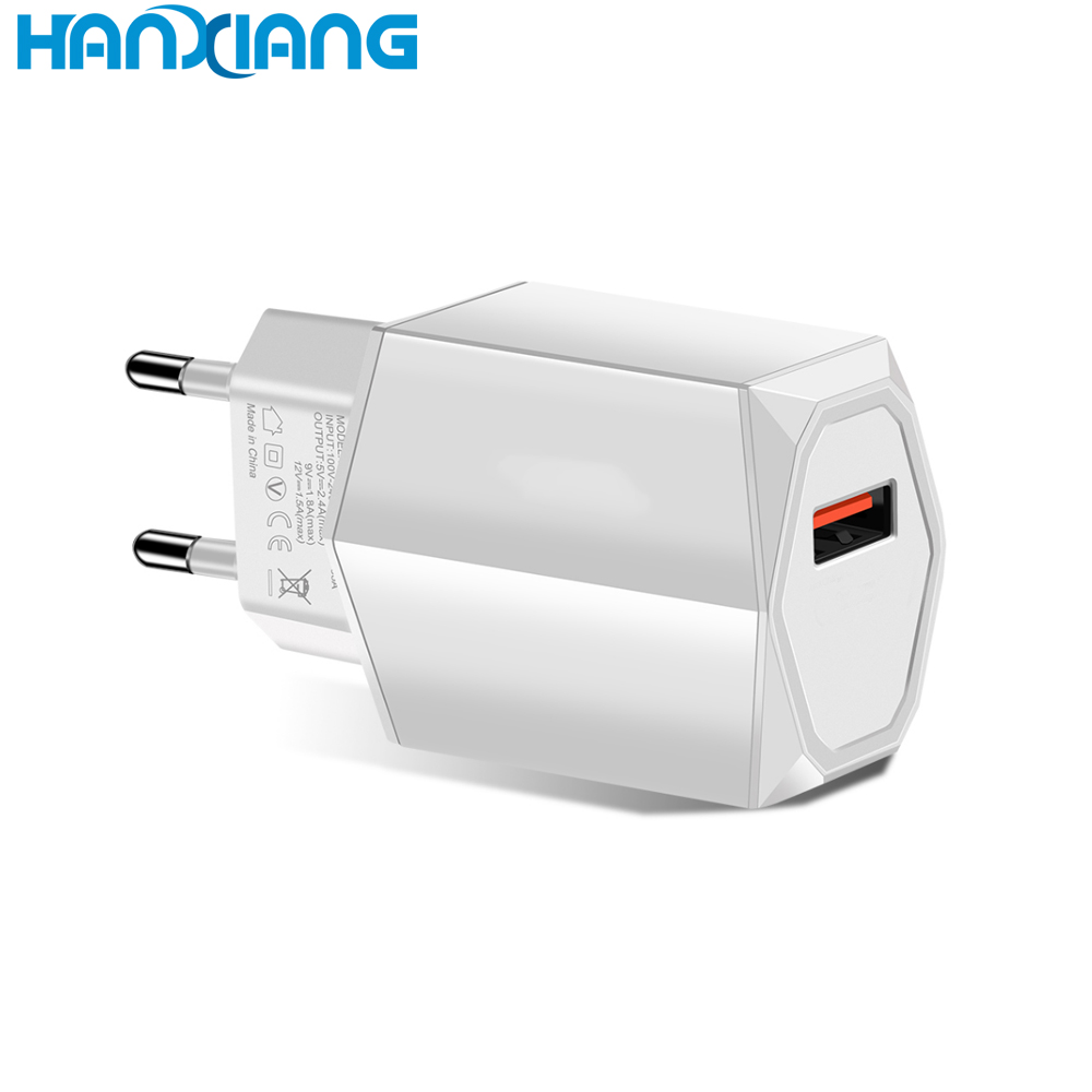 EU Wall Charger 4.8A 5V 24W Dual usb Quickly Wall Charger For Iphone Android Phone USB Charger