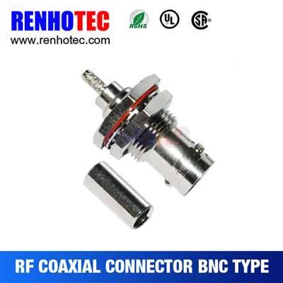 Waterproof BNC Jack Connector For Cable Rg179 RG316