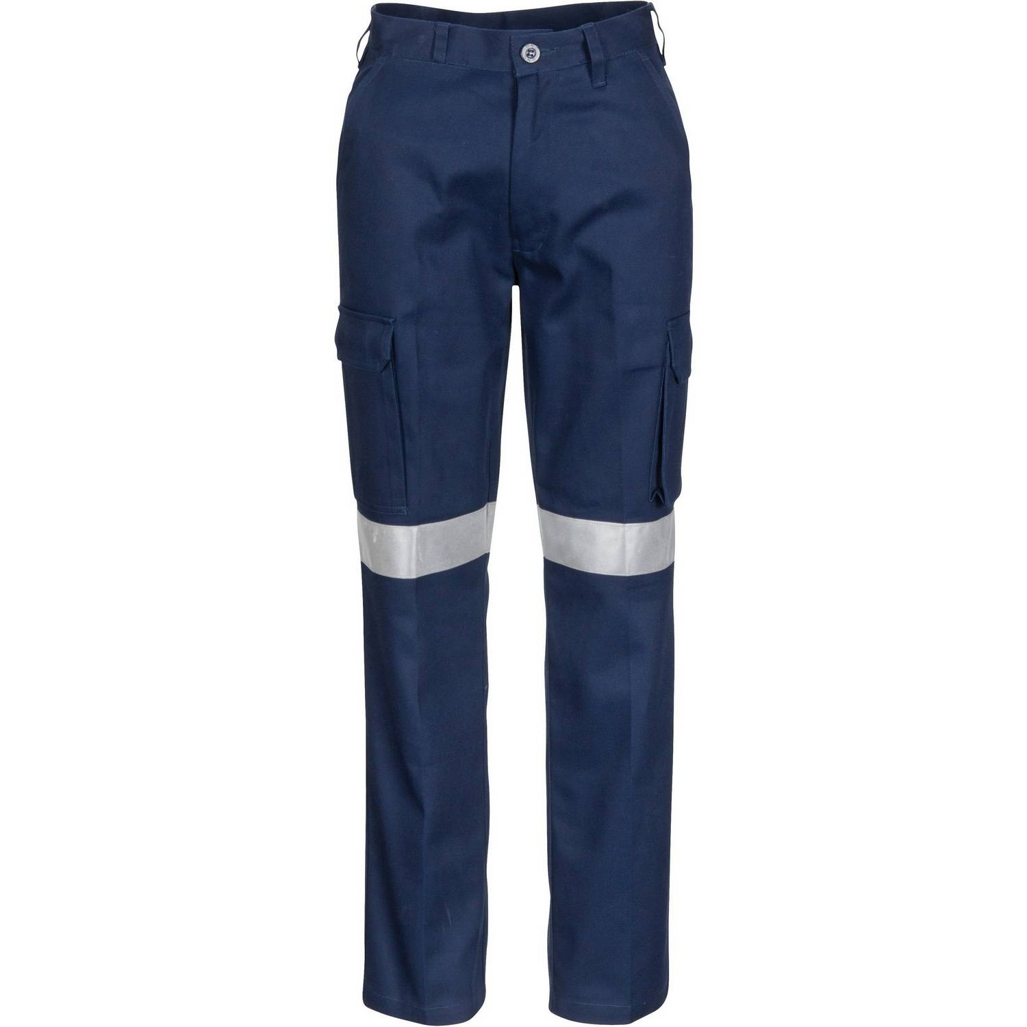 Blue reflective safety pants with 3M reflective tap