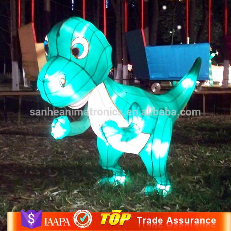 Wholesale alibaba outdoor dinosaur hand lantern for garden decor
