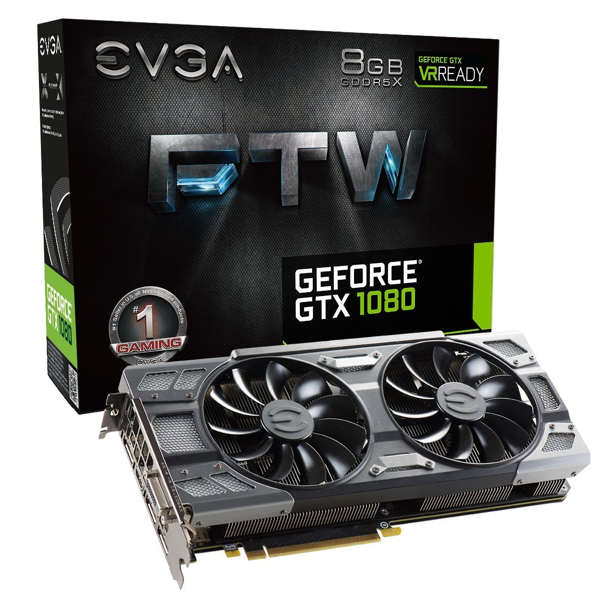 EVGA GeForce GTX 1080 FTW GAMING ACX 3.0, 8GB GDDR5X, RGB LED, Graphics Card 08G-P4-6286-KR