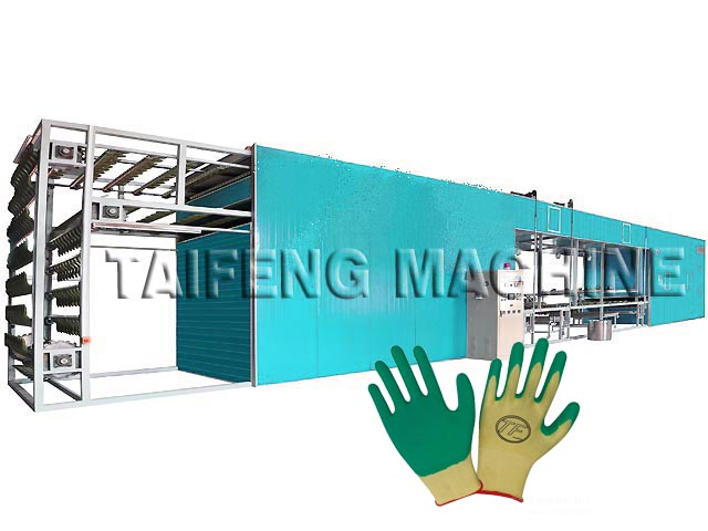 Labour protectation glove dipping line in PU for sale