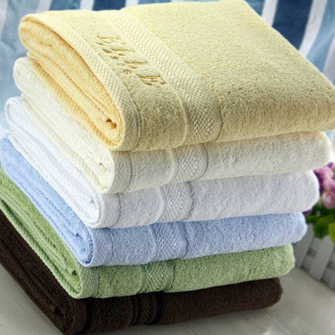 100% cotton high quality jacquard bath towel