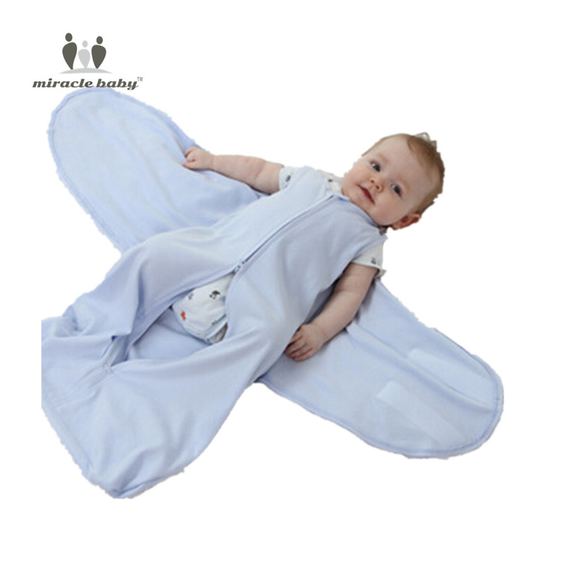 Miracle Baby cotton swaddle & sleeping bags with wings for newborns